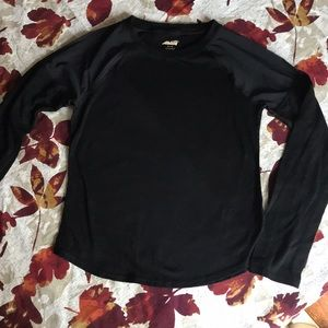 Avia Girls black shirt with sheer mesh